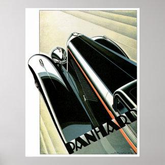Panhard Automobile Vintage Ad Art Poster