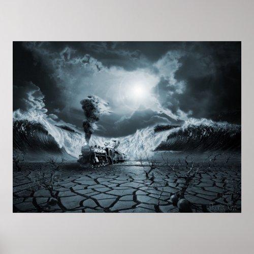 Panic Attack or Anxiety PTSD, surreal poster print print