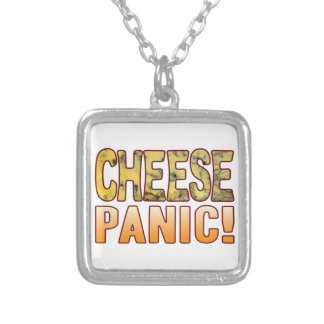Panic Blue Cheese Silver Plated Necklace
