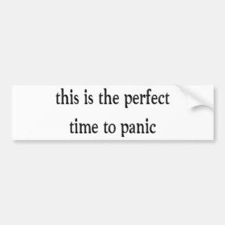Panic Bumper Sticker