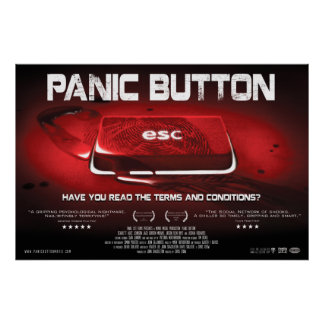 Panic Button Blood Key Poster