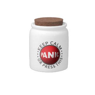 Panic Button candy jars