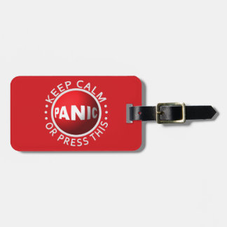 Panic Button custom luggage tag
