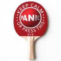 Panic Button custom ping pong paddle