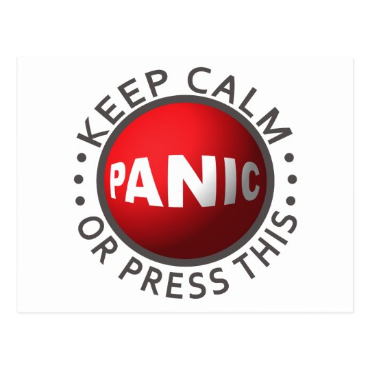 Panic Button custom postcard