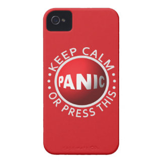 Panic Button iPhone case-mate iPhone 4 Cases