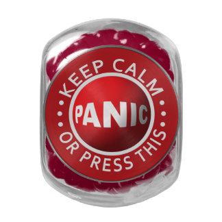 Panic Button jars & tins Glass Candy Jar