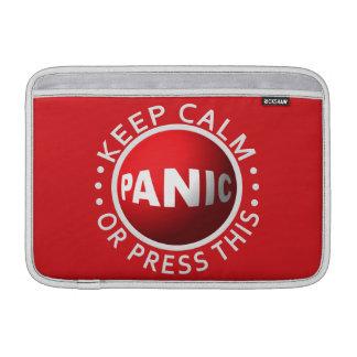 Panic Button MacBook sleeve