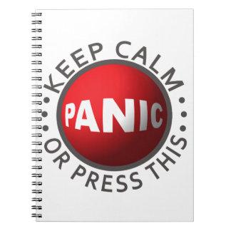 Panic Button notebook