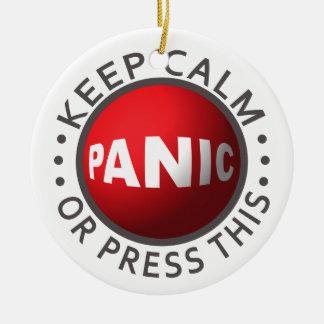 Panic Button ornament