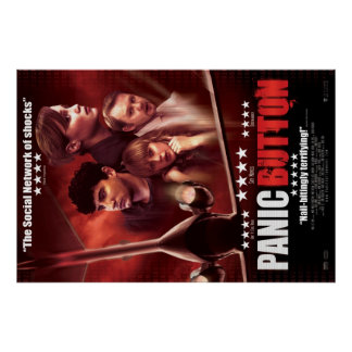 Panic Button Red Sky Poster