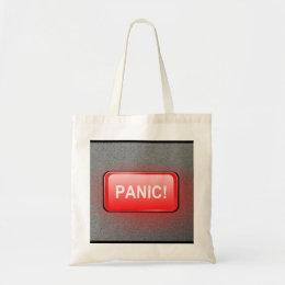 Panic button. tote bag