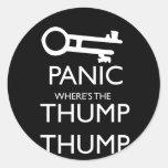 Panic Classic Round Sticker