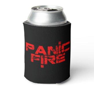 PANIC FIRE logo coozie