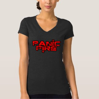PANIC FIRE overunder red logo T-Shirt