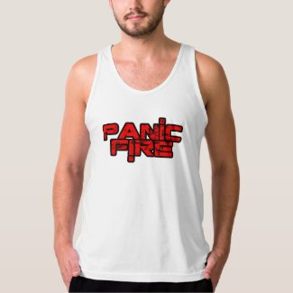PANIC FIRE overunder red logo Tank Top