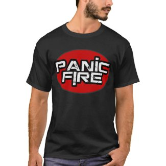 PANIC FIRE red circle logo T-Shirt