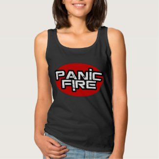 PANIC FIRE red circle logo Tank Top