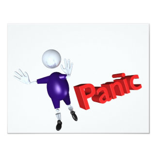panic 4.25x5.5 paper invitation card