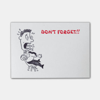 Panic Man Don't Forget Post-it Notes