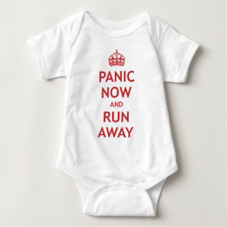 Panic Now and Run Away Baby Bodysuit