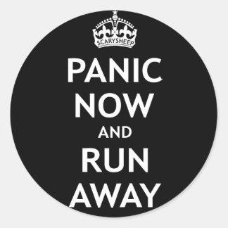 Panic Now and Run Away Sticker