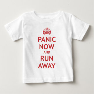 Panic Now and Run Away Tees