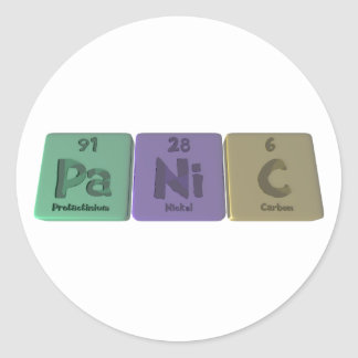 Panic-Pa-Ni-C-Protactinium-Nickel-Carbon.png Classic Round Sticker