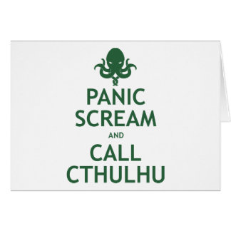 Panic Scream and Call Cthulhu Card
