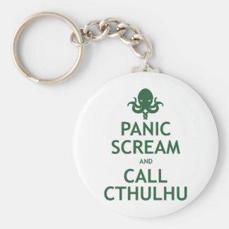 Panic Scream and Call Cthulhu Keychain