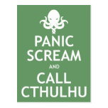 Panic Scream and Call Cthulhu Post Cards