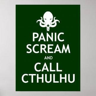 Panic Scream and Call Cthulhu Poster