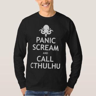Panic Scream and Call Cthulhu T-Shirt