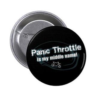 Panic Throttle Pinback Button