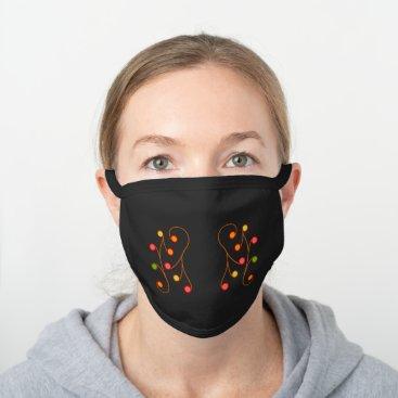 Panicle6 Black Cotton Face Mask