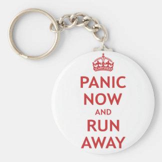 Pánico ahora y funcionamiento lejos llaveros