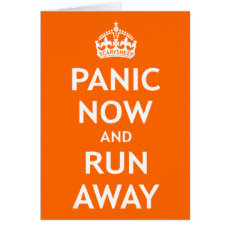 Pánico ahora y funcionamiento lejos tarjeta