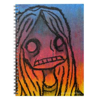 Pánico de CMYK Spiral Notebook
