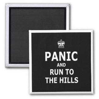 Pánico Imán Cuadrado