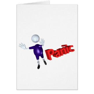 pánico tarjeta de felicitación