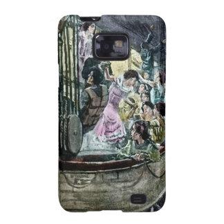 Pánico titánico del RMS en la precipitación de la  Samsung Galaxy S2 Carcasas