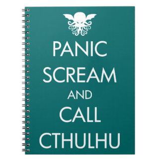 Pánico y llamada Cthulhu del grito Cuaderno