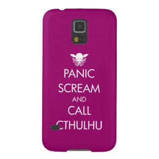 Pánico y llamada Cthulhu del grito Fundas Para Galaxy S5