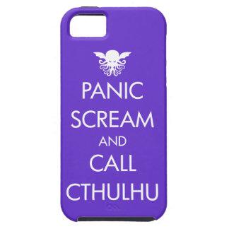 Pánico y llamada Cthulhu del grito iPhone 5 Case-Mate Protector