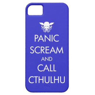Pánico y llamada Cthulhu del grito iPhone 5 Case-Mate Carcasa