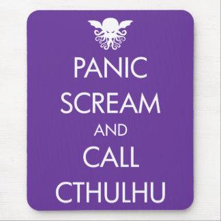 Pánico y llamada Cthulhu del grito Tapete De Ratón