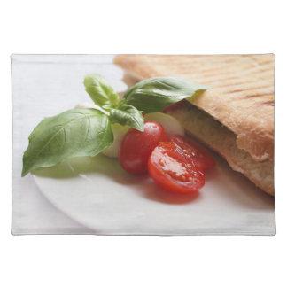 Panini Caprese italian food placemat