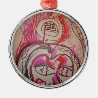 PanIntra Modality Round Metal Christmas Ornament