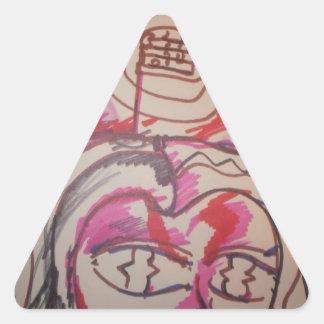 PanIntra Modality Triangle Sticker