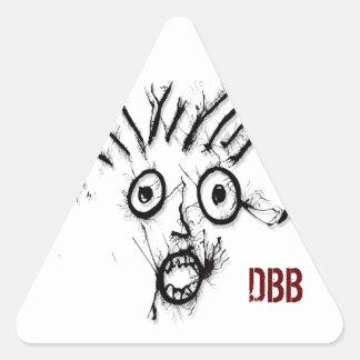 Panio DoodleNut 0006 - Pegatina Triangular